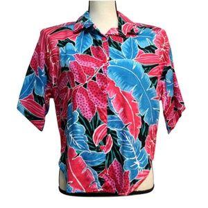 Vintage 80s Wild Honey Womens M Hawaiian top